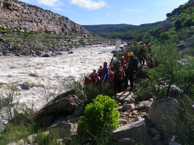 A group scouts Kranz rapid on the Doring