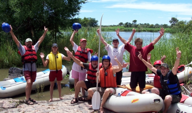 Happy rafters on the Vaal
