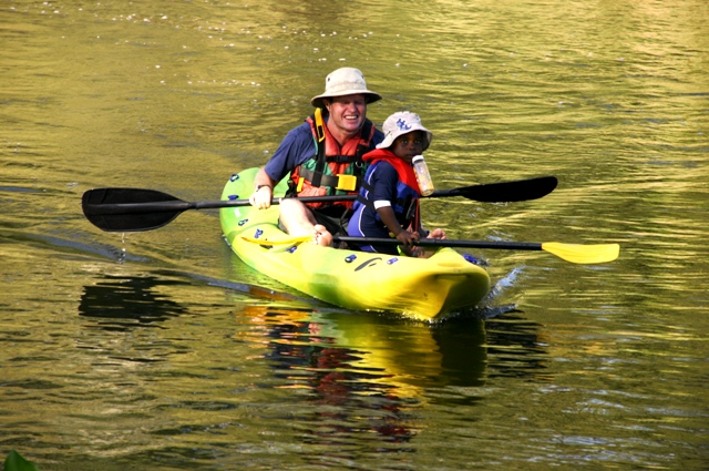 Easy paddling for young and old