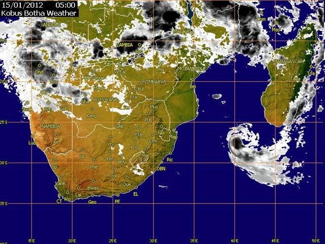 Cyclone coming 15 Jan 2012