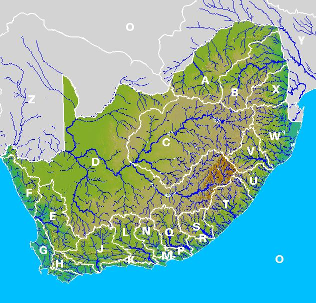 Map Of Rivers Of South Africa Africa Map: Map Of Rivers In South Africa