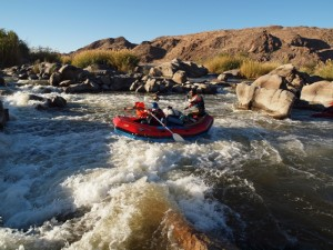 Orange river whitewater rafting